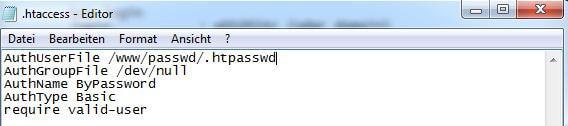 .htaccess Datei