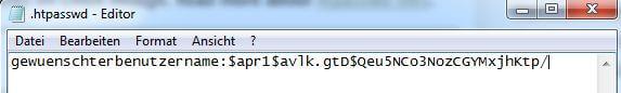 .htpasswd Datei