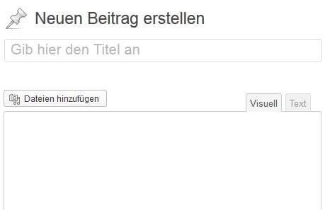 WordPress Editor vorher: visuelle Ansicht funktioniert nicht