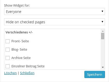Display Widgets Gesamtueberblick