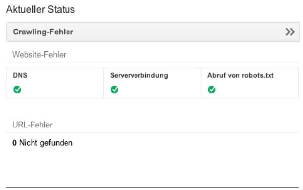 Google Webmaster Tools Status